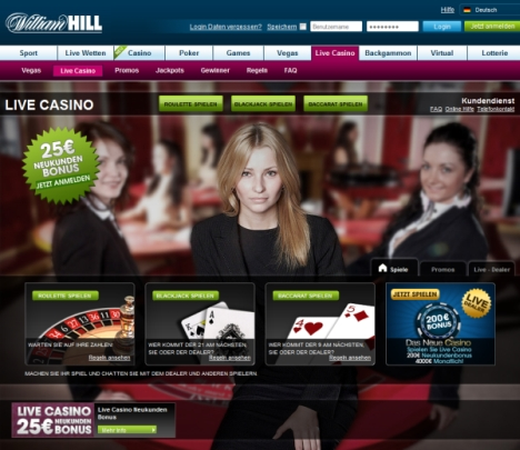 live-Roulette im Williamhill-Casino