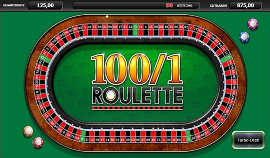 100/1 Roulette Vorschau